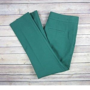 Ann Taylor Devin Fit teal cropped work trousers 8P
